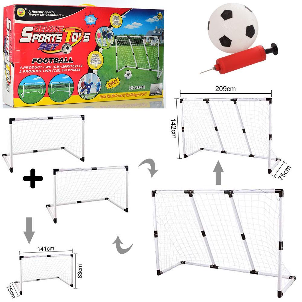 Футбольні ворота 2в1 + м'яч + насос, футбольный набор детский, набір для футболіста