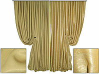 Ткань для штор блэкаут СОФТ № золотой (двухсторонняя)