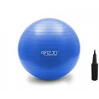Мяч для фитнеса фитбол 65 см 4FIZJO Anti-Burst, Гимнастический шар для спины с антиразрывом + насос, голубой