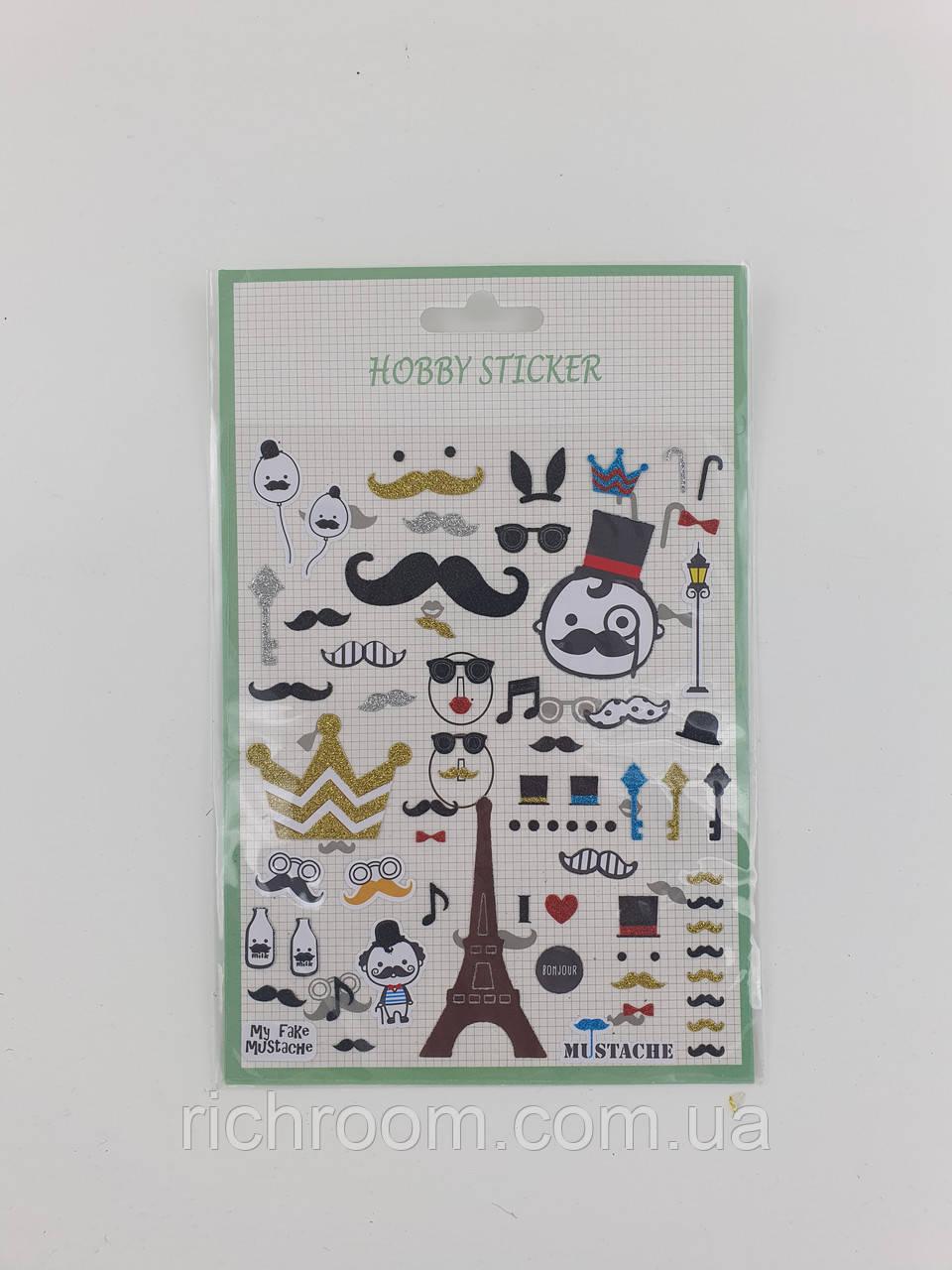 Наклейки, стикеры Hobby Flora, набор наклеек для творчества 13 х 20 см