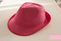 Шляпа карнавальная диско розовая