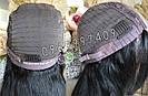 Длинный чёрный парик 85 см. без чёлки, натуральный волос, фото 5