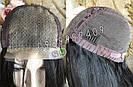 Довгий чорний парик 95 див. без чубчика, натуральний волосся, фото 6