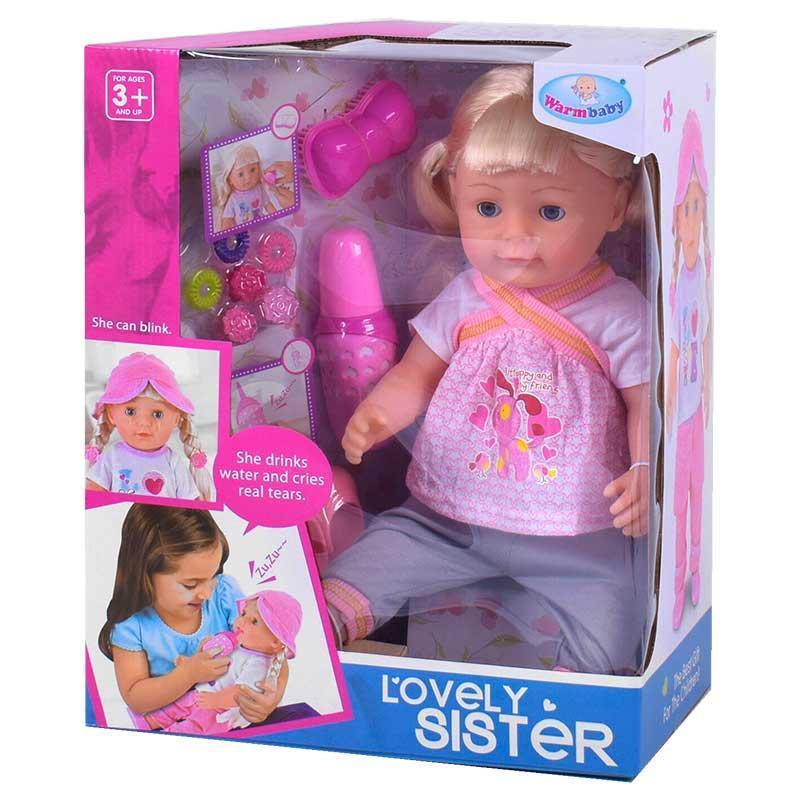 """Кукла """"Lovely sister"""" (аналог Baby Born Старшая Сестра) арт. 016-447"""