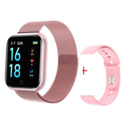 Фітнес браслет трекер Smart Band T80S, Розумні спортивні смарт годинник для здоров'я з температурою,, фото 2