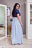 Женское Платье в пол 50-52, 54-56, 58-60, 62-64, фото 6