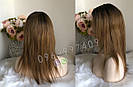 💎Натуральный женский парик омбре золотистый, натуральный волос 💎, фото 3