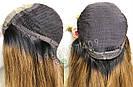 💎Натуральний жіночий парик золотистий з чубчиком, натуральний волосся 💎, фото 7