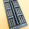 Набор магнитных прецизионных отверток UKC в алюминиевом футляре (49 в 1) Grey, фото 6