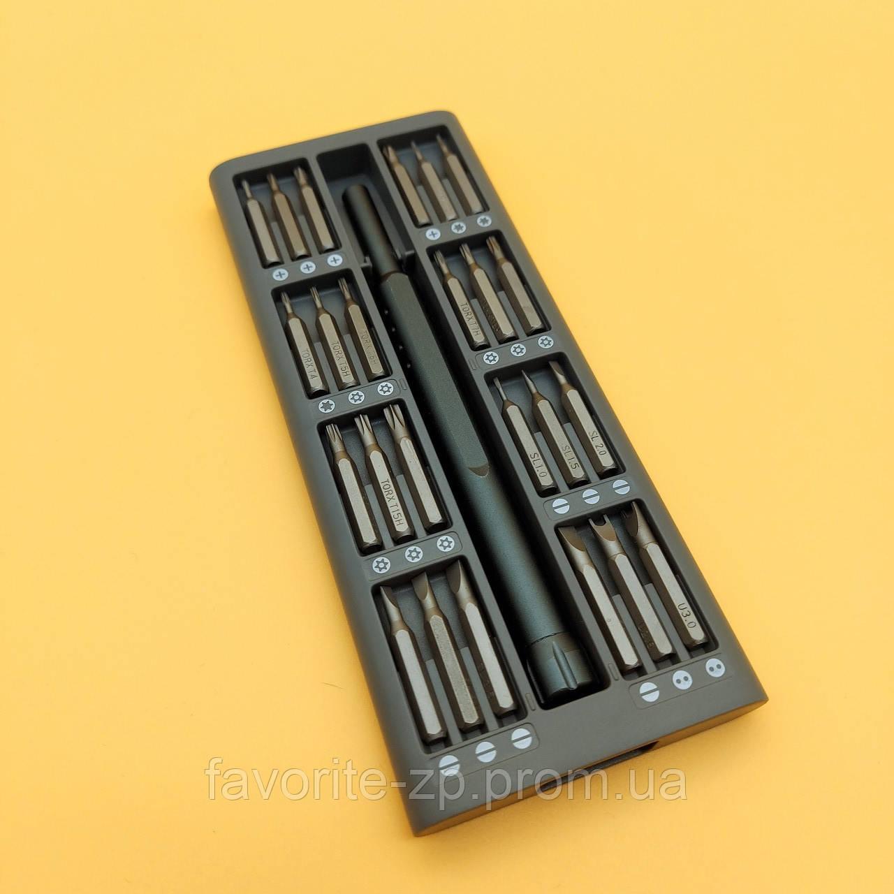Набор магнитных прецизионных отверток UKC в алюминиевом футляре (49 в 1) Grey