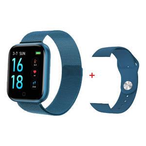 Умный фитнес браслет трекер Smart Band T80S Спортивные смарт часы для здоровья с температурой и тонометром