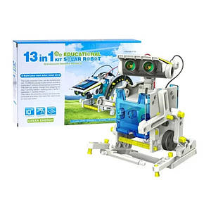 Робот конструктор на сонячній батареї (Розвиваючий набір іграшка для дітей від 8 років) Solar Robot 13в1