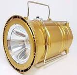 Кемпінговий світлодіодний ліхтар, Led світильник, сонячна панель SH-5800T Gold, фото 3