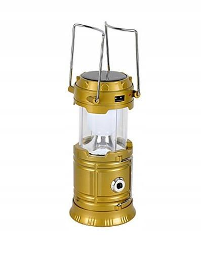 Кемпінговий світлодіодний ліхтар, Led світильник, сонячна панель SH-5800T Gold