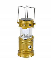 Кемпинговый светодиодный фонарь, Led светильник, солнечная панель SH-5800T Gold