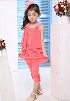 Костюм-комплект для девочки штанишки  с блузкой, фото 1