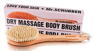 Антицеллюлитная щетка для сухого массажа Mr.SCRUBBER