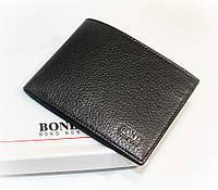 Кошелек мужской кожаный черный карты, купюры Bond Non 518-281 Турция, фото 1