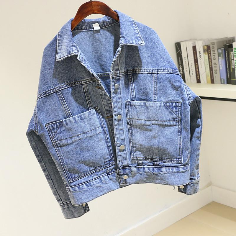 Стильна жіноча джинсовці з кишенями (44-48)