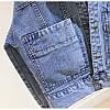 Стильна жіноча джинсовці з кишенями (44-48), фото 5