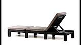 Шезлонг Allibert by Keter Daytona Brown ( коричневий ) з м'якими подушками, фото 8