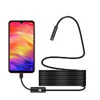 Эндоскоп AN97 для Android водонепроницаемый, объектив 5,5 мм, USB, жесткий кабель 1 м.
