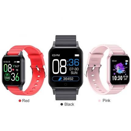 Фитнес-браслет Smart Band T96 с шагомером, пульсометром, термометр, Спортивные наручные умные смарт-часы, фото 2