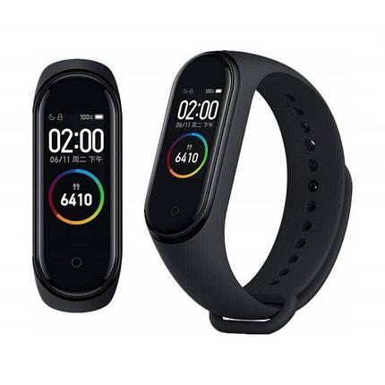 Фітнес браслет трекер Xiaomi mi band 4, Розумні спортивні сматр годинник для здоров'я з тонометром, крокоміром, фото 2