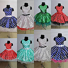 Стиляги детское платье в горох пышное нарядное платье в ретро стиле
