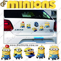 "Наклейки Миньоны - ""Minions Stickers"" - 5 шт."