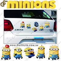 "Наклейки Миньоны - ""Minions Stickers"" - 5 шт., фото 1"
