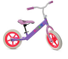 Велобег PROFI KIDS детский 12 д. M 3847-1 (1шт) колеса EVA, пласт.обод, сиренево-малиновый