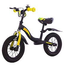 """Велобіг BALANCE TILLY 12"""" Rocket T-212520 Yellow /1/(чорного кольору)жовтого"""