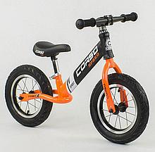 """Велобег """"CORSO"""" 24846 стальная рама, колеса 12 """", надувные колеса"""