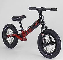 """Велобіг Corso """"Skip Jack"""" 44538 (1) ЧОРНО-ЧЕРВОНИЙ, колесо 12 """", алюмінієва рама, амортизатор, в коробці"""