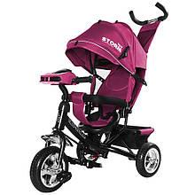 Велосипед трехколесний TILLY STORM T-349 Фиолетовый / 1 /Музыкальный фара (русская музыка)Большой капюшон