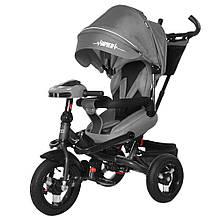 Велосипед трехколесный TILLY Impulse с пультом и усиленной рамой T-386 Серый / 1 /