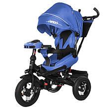 Велосипед триколісний TILLY Impulse з пультом і посиленою рамою T-386/1 Синій льон/1/