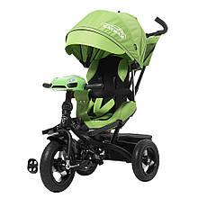 Велосипед триколисний TILLY CAYMAN T-381 Зеленый с Усиление рамой и пультом / 1 /