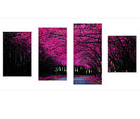 """Модульные фотокартины из 4-х частей на холсте """"Осенний Пейзаж"""""""