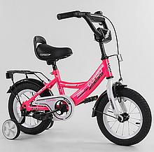 """Велосипед 12 """"дюймів 2-х колісний"""" CORSO """"CL-12836 РОЖЕВИЙ, ручне гальмо, дзвіночок, сидіння з ручкою, доп."""