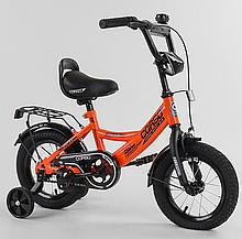 """Велосипед 12 """"дюймів 2-х колісний"""" CORSO """"CL-12913 ПОМАРАНЧЕВИЙ, ручне гальмо, дзвіночок, сидіння з ручкою,"""