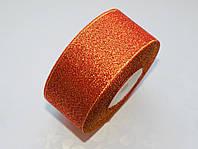 Лента парча Красная с золотом 4 см 1 м