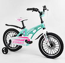 """Велосипед 16 """"дюймов 2-х колесный"""" CORSO """"MG-16101 магниевый рама, алюминиевые двойные диски с усиленной"""