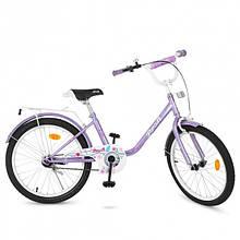 Велосипед дитячий PROF1 20д. Y2083 (1шт) Flower, фіолетовий, дзвінок, підніжка