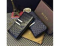 Мужской кошелек в стиле Gucci (138032) blue, фото 1