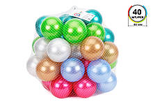 """Игрушка """"Набор шариков для сухих бассейнов ТехноК"""", (40 шт., 80 мм.) Арт. 7303"""
