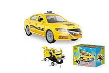 Машина-конструктор Таксі 1 379 (36/2) Play Smart, світло, звук, в коробці