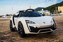 Електромобіль T-7623 WHITE легкова на Bluetooth 2.4 G Р/У 2*6V7AH мотор 2*35W з MP3 118*70*50