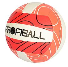 М'яч волейбольний EV 3330 (30шт) офіц.розмір, ПВХ 2 мм, 260-280г, 3 кольори, в пакеті